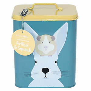 Burgon Ball Rabbit Guinea Pig Food Feed Storage Tin Container