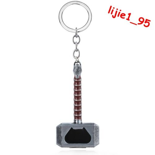 Marvel Avengers Thor/'s Hammer Mjolnir Alloy Key Chains Keychain Bottle Opener