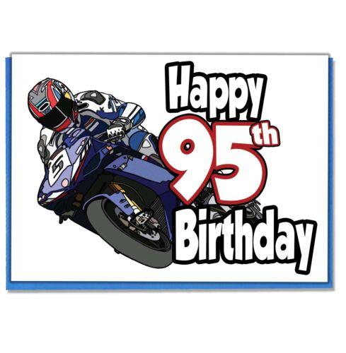 Dad Son Grandson Husband Friend Brother Boyfriend Motorbike 95th Birthday Card