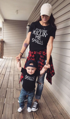 USA Family Outfits Clothes Mother Daughter Kids Matching T-shirt ... 26221d7f0