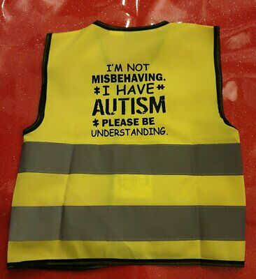 Hospitable Not Misbehaving Autism Hi-vis Waistcoat Autistic Different Sizes Volume Large
