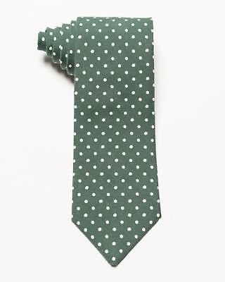 """Isaia Napoli NWT $230 Blue White Polka Dot Pattern Silk Cotton Blend Tie 3.5"""""""