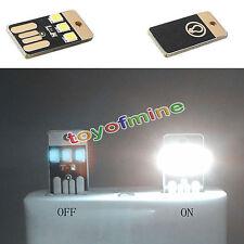 2pcs Mini LED pocket card light Handy portable USB power light
