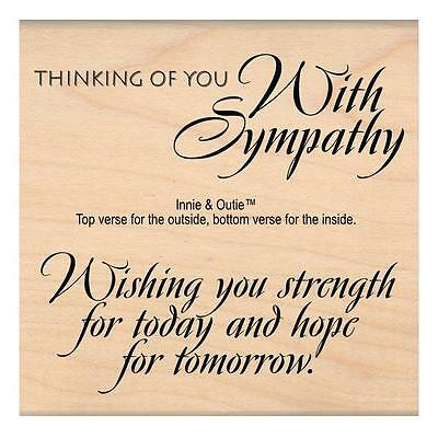 My Sentiments Exactly Rubber Stamp Wishing You STRENGTH With Sympathy S187