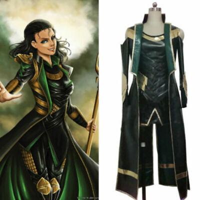 Thor The Dark World Loki Cosplay costume Carnaval Halloween uniform Custom NEW