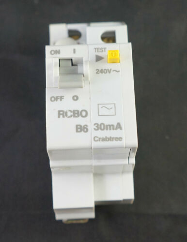Crabtree Starbreaker type b RCBO 61//B0630 6A 30mA simple pôle 240V