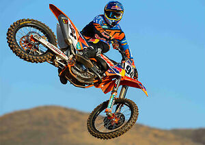 motocross dirt bike stunt desert large poster wall art print sizes