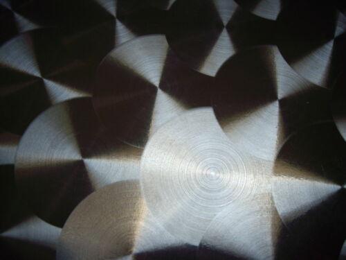 Edelstahlblech 500x250x0,8mm Kreis Schliff d50 Marmoriert CNS Dekorplatte  V2A