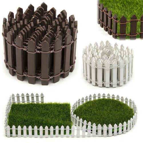 Mini Holzzaun Sukkulenten grass Micro Landschaft Dekoration Garten Stakes P//D