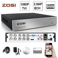 ZOSI 8CH 1080P TVI 2MP HDMI Network CCTV DVR for Security Camera System Free APP