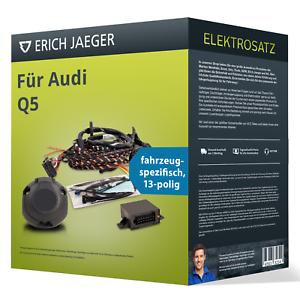 Elektrosatz-13-pol-spezifisch-fuer-AUDI-Q5-11-2008-12-2016-NEU-Erich-Jaeger
