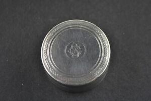 EntrüCkung Antike Pillendose Silber, Innen Vergoldet, Zahlreiche Punzen, Österreich Um 1860