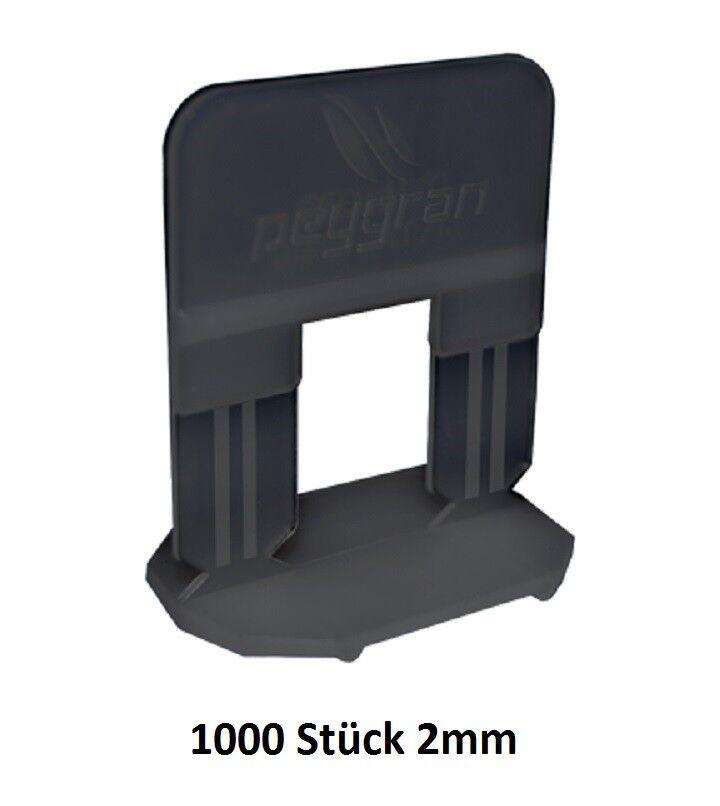 Zuglaschen 2 mm schwarz 1000 Stk. Nivelliersystem Peygran Verlegehilfe