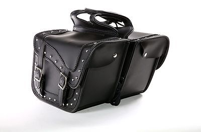 Universal Fit 2pc Slanted Motorcycle Saddlebag  Set for All Type of HONDA Bikes