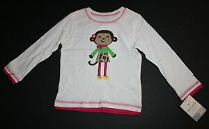 New-Carter-039-s-Girls-Long-Sleeve-Fashionably-Dressed-Monkey-Tee-Top-Shirt-3T-NWT