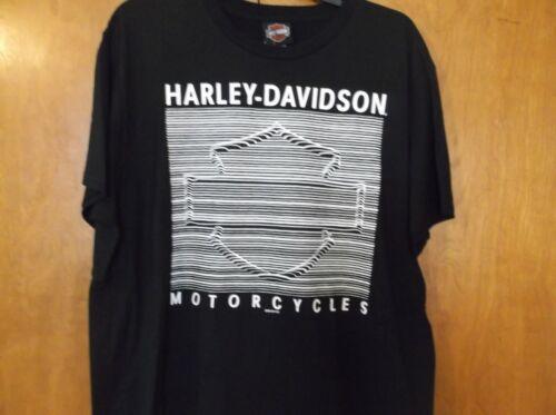 "Details about  /Harley-Davidson Men/'s Medium  Black /""Lined Logo/"" B/&S Shirt NEW"