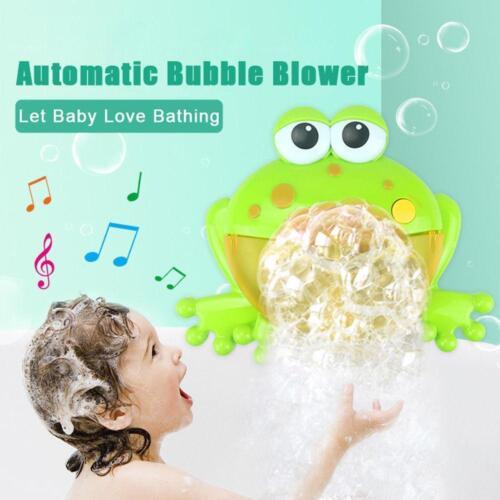 Frog Bubble Maker 12 Songs Machine Musical Bath Bubble Baby Children Shower Toys