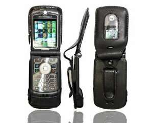 caseroxx-Leather-Case-with-belt-clip-for-Motorola-Razr-V3-in-black-made-of-real