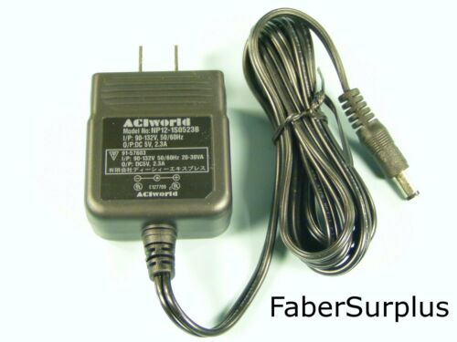 REGULATED 5 Volt 2.3 Amp DC WALL ADAPTER CHARGER
