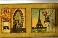 Postcards Of International Scenes Wallpaper Border Aw0728bd
