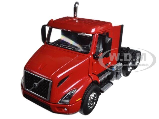 calidad fantástica VOLVO Vnr 300 Day Cab Cab Cab Cherry Bomb Rojo 1 50 Diecast Modelo por First Gear 50-3365  Vuelta de 10 dias