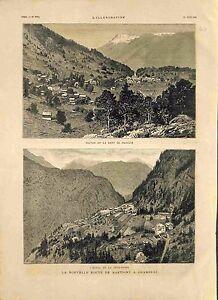 Route de Martigny à Chamonix & Salvan la dent de Morcles en Suisse GRAVURE 1881 - France - ROUTE FROM MARTIGNY TO CHAMONIX & SALVAN THE TOOTH OF MORCLES IN SWITZERLAND France ANTIQUE PRINTGRAVURE 100 % DÉPOQUE 1881 PORT GRATUIT EUROPE A PARTIR DE 4 OBJETS BUY 4 ITEMS AND EUROPE SHIPPING IS FREE Il s'agit d'un fragment de page original - France