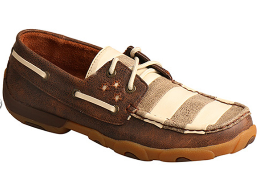 Twisted X Wouomo Stars and Stripes Driving Moccasins - Moc Toe WDM0109