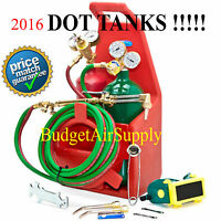Portable Welding Oxygen Acetylene Torch Kit With Tote -certified Dot Tanks Empty
