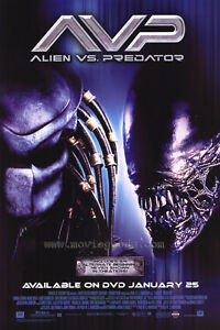 Alien Vs. Predator Dvd Poster Single Sided Original Movie ...