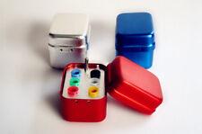 2pcs Dental Squard Endo Organizer Container 6 Gutta Percha Aluminum