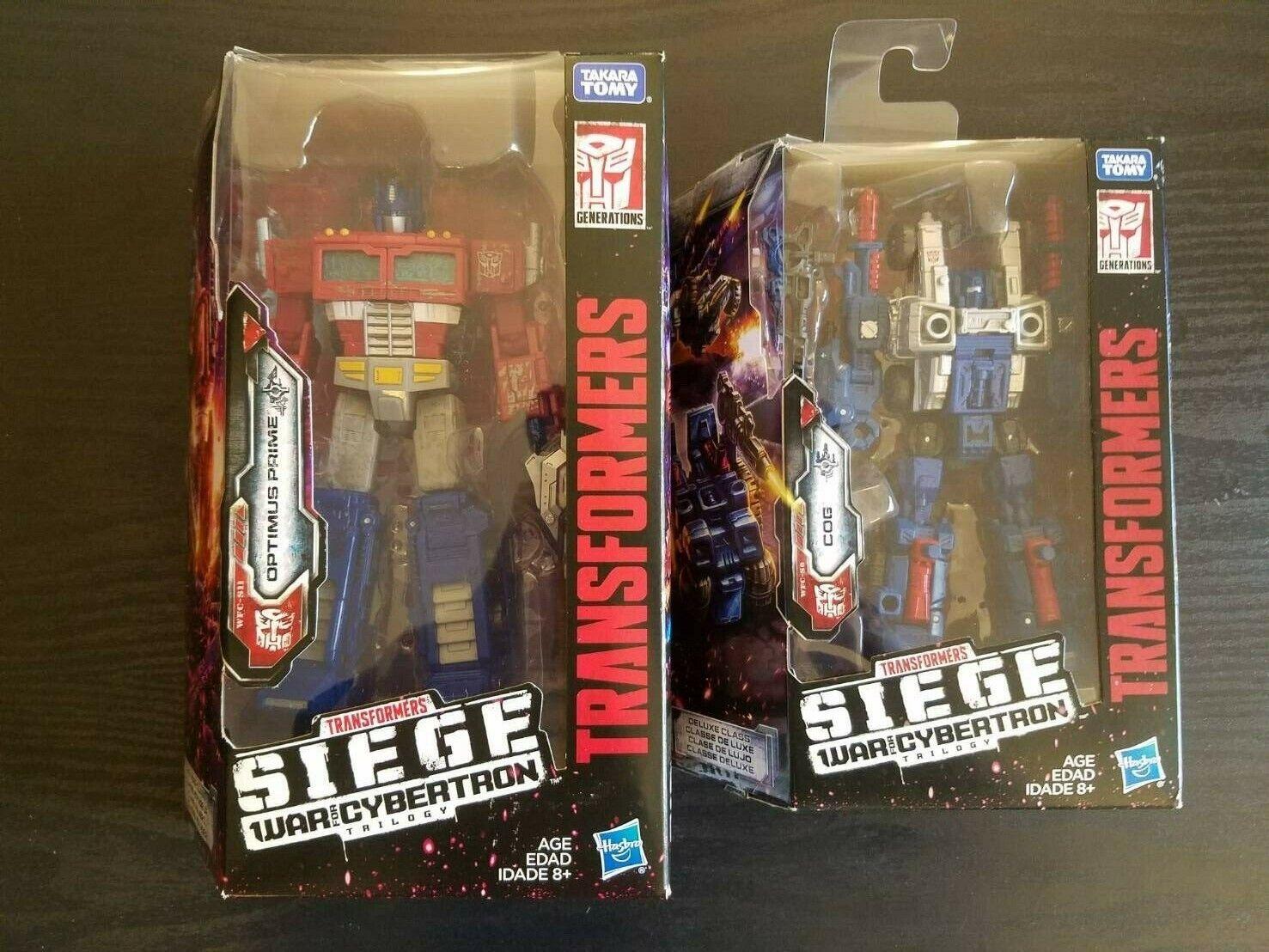 Transformers Generations War for Cybertron Siege Optimus Prime & Cog Weaponizer