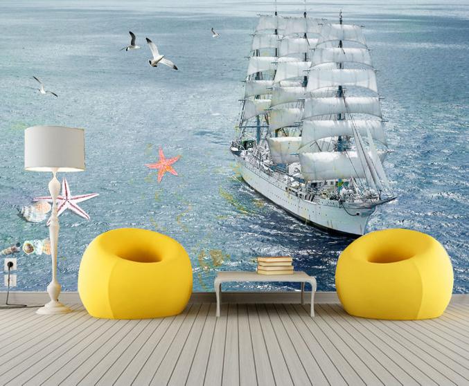 3D Ozeansegeln 57 Tapete Tapeten Mauer Foto Familie Tapete Wandgemälde DE Summer