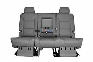 Sensational Details About 2017 2018 2019 Suburban 2Nd Row 60 40 Split Bench Seat Gray Leather Manual Squirreltailoven Fun Painted Chair Ideas Images Squirreltailovenorg