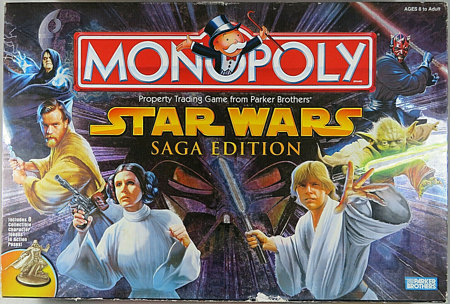 MONOPOLY STAR WARS SAGA EDITION 2005 Property Trading Game From Parker Bredhers