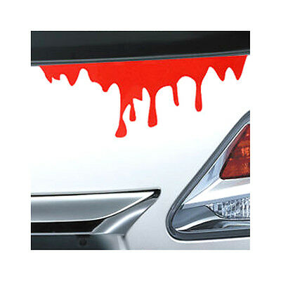 Universal Car Front Rear Decor Decal Bleed Blood Drip Zombie Undead Sticker
