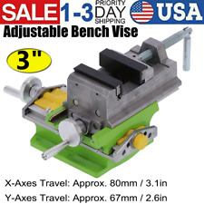 3 Inch Adjustable Cross Bench Vise Fixed Bench Drill Woodworking Tool