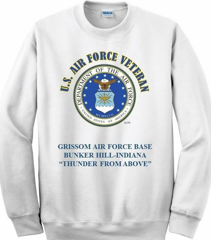 GRISSOM AIR FORCE BASE BUNKER HILL-INDIANAAIR FORCE EMBLEM SWEATSHIRT