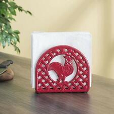 Home Basics Lattice Collection Cast Iron Napkin Holder Red