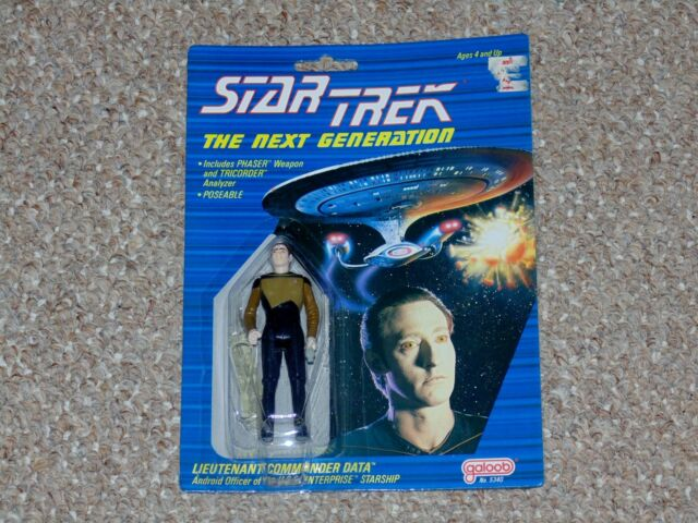 1988 Galoob Star Trek: The Next Generation Spotted Face Data MOC Brand New TNG