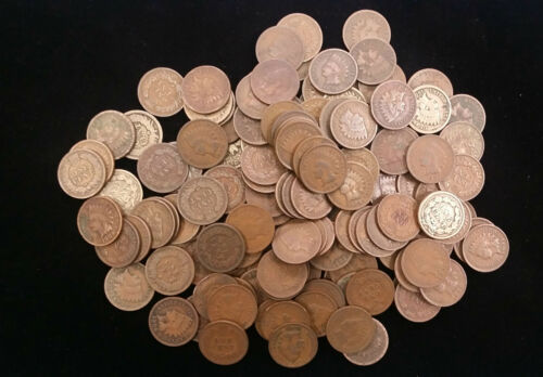 Indian Head Cents lot of ten good or better pennies mixed dates