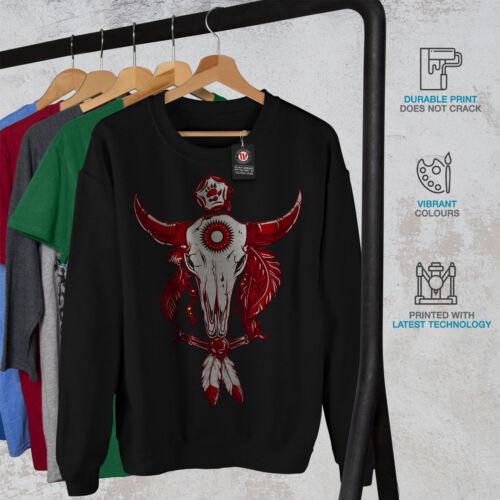 Indian Buffalo Skull Men Sweatshirt NEWWellcoda