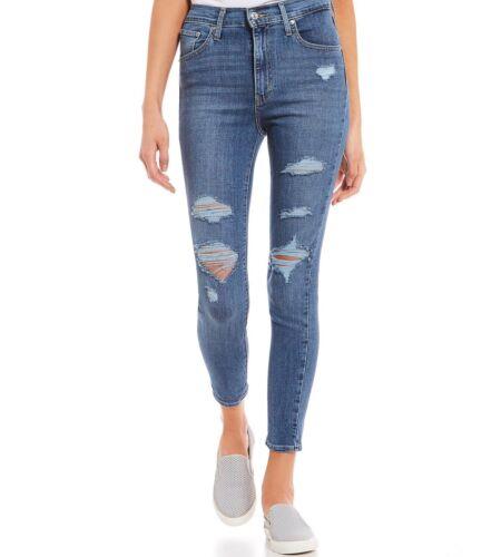 skinny Distressed cheville Mile Levis à taille la super 25 High à 32 déchirée Jeans UYnvRU