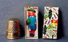 Dollhouse Miniature 1:12 scale Lenci Doll Box 1920s Italy dollhouse girl toy