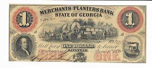 1-1859-Merchants-Planters-Bank-Savannah-Georgia-G2-Farmer-Wagons-Plate-A