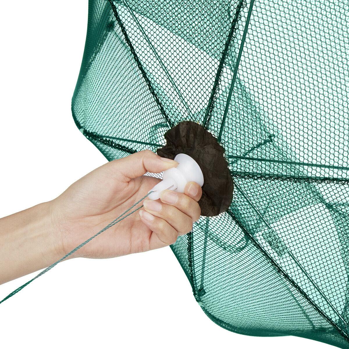 Foldable Trap Crab Net Crawdad Shrimp Cast Minnow Hot