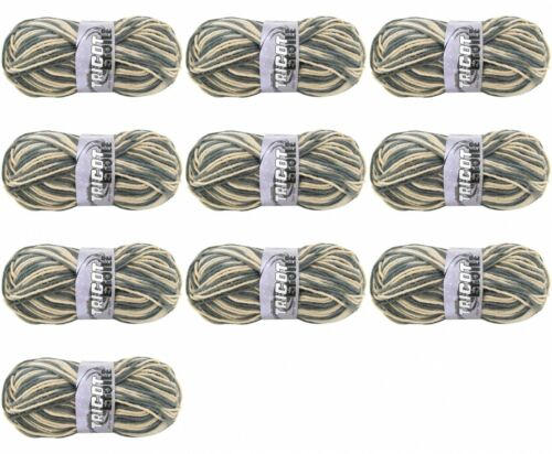 Chiné Gris Beige Lot de 10 Pelote de laine Tradition Tricot Etoile