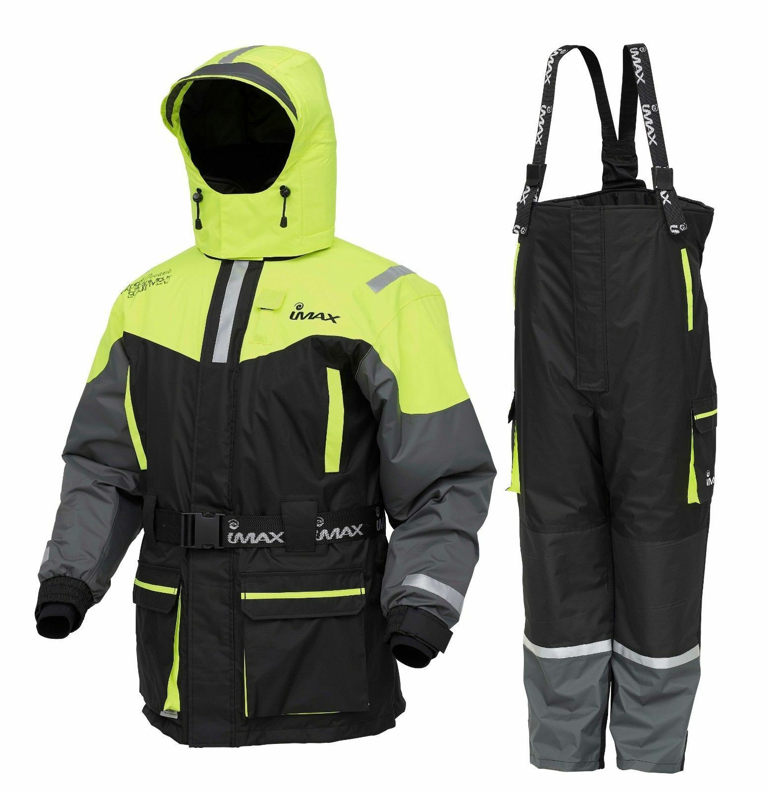 IMAX NIEUW SEAWAVE Floatation Fishing Suit 2PC --Jasje Bib &m Brace --ALLE afmetingS