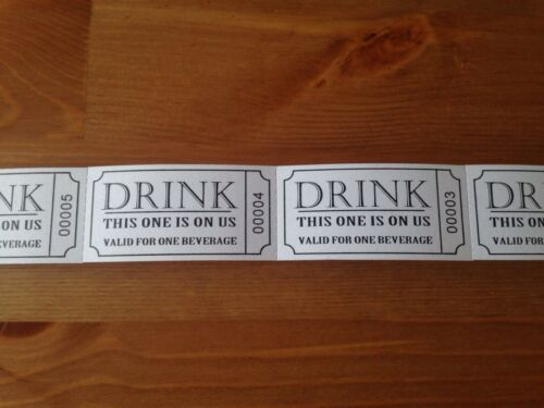 Event Wedding Party 100 Drink Tokens // Tickets