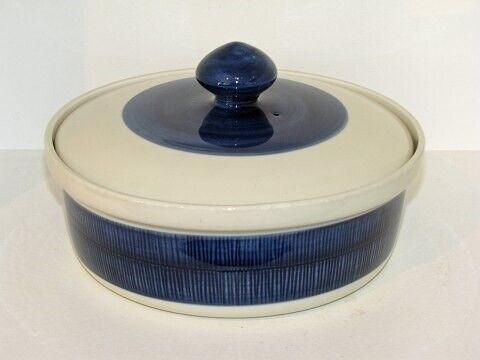Porcelæn, Blå Koka  Ovnfast skål med låg, Blå