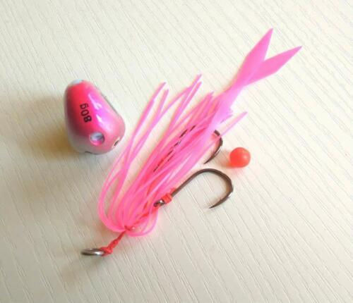 Pesca Slider Snapper Sea Bream Jig Head With Skirt 4pcs 135g//100g//80g//60g//40g